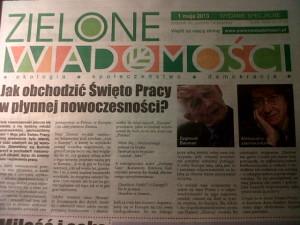 Zielone Wiadomości numer pierwszomajowy 2013
